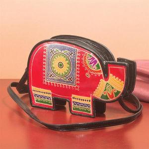 Handbags - Leather Elephant Crossbody Bag